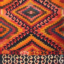 Large Orange Rug Striking Antique Anatolian U0027eye Dazzler U0027 Kilim From The Taurus