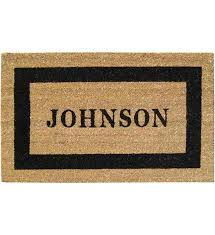 Coir Doormat Wipe Your Paws Doormats Personalized And Welcome Mat Organize It