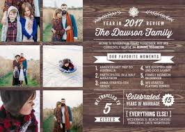 year in review christmas card photo cards rustic year in review by mixbook