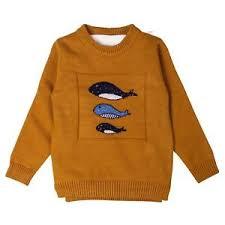 fish sweater kidstud boys smart fish design woolen sleeves sweater ebay