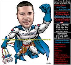 order superhero caricatures comics art cartoons ads gifts