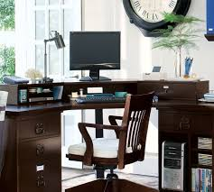 Pottery Barn Dawson Desk Bedford Smart Technology Corner Desk Hutch Pottery Barn Home