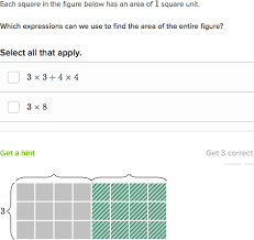 area and the distributive property practice khan academy
