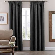 Pencil Pleat Curtains Absolutely Smart Pencil Pleat Curtains Vermont Charcoal Lined
