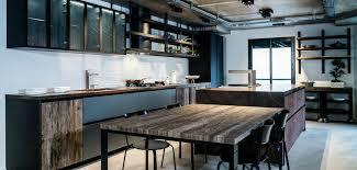 cuisine industriel cuisine bois industriel design photo décoration chambre 2018