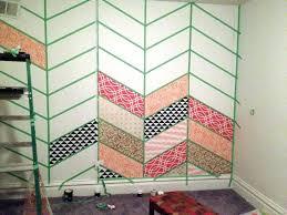 stenciled herringbone patchwork wall reality daydream