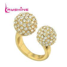 ball rings images 2018 new fashion jewelry gold color finger rings elegant full jpg