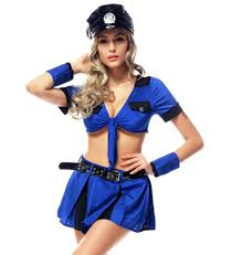 holloween costumes blue cop costume women