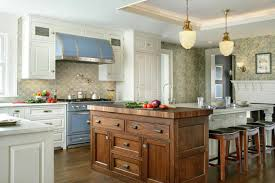 marvellous english kitchen with wooden cabinetry and big island