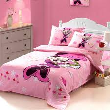 Minnie Mouse Bedspread Set Cartoon Duvet Cover Set Minnie Mouse Bedding Disney Bedding Sets
