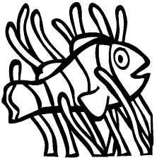 clown fish living among anemon coloring pages best place to color