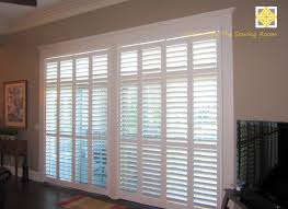 Plantation Shutters On Sliding Patio Doors Blinds Kitchen Patio Door Window Treatments Track Plantation