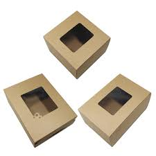 120pcs 3 sizes wholesale brown kraft paper paperboard gift boxes
