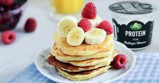 Protein Pancakes With Cottage Cheese by Arla Protein On Twitter