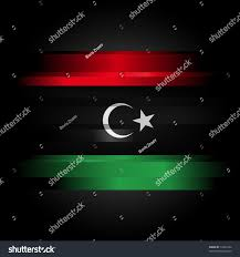 Lybian Flag Flag Libya Between 195169 On Black Stock Illustration 72433102