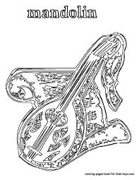 116 mandolin musical instrument at coloring pages book for kids