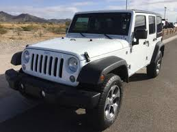 white four door jeep wrangler for sale used 2016 jeep wrangler unlimited 4wd 4dr sport bright white