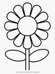 simple flower drawing for kids flower coloring pages simple flower