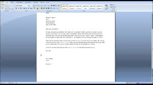 Microsoft Business Letter Template by Credit Approval Letter Sample Youtube