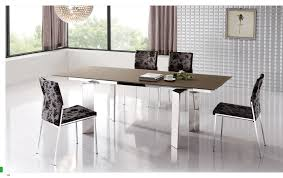 minimalist brown wood zen dining room chairs glass table top white