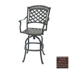 Bar Height Patio Set With Swivel Chairs Allen Roth Set Of 4 Safford Aluminum Patio Bar Height Patio