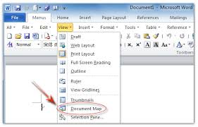 microsoft word publishing layout view where is document map in microsoft office 2007 2010 2013 and 365