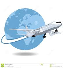 airplane flying around the world royalty free stock images image