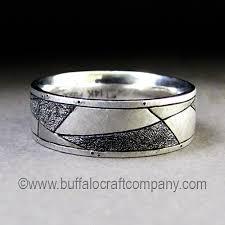 mens wedding band materials tomlin mosaic s wedding band buffalo craft company llc