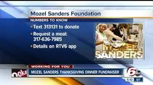 mozel sanders foundation in need of 50 000 for thanksgiving day