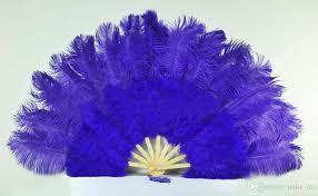 ostrich feather fans 2018 violet marabou ostrich fether fan large feather fan fold