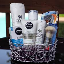 gift baskets for him men s grooming spa fathers day basket before cellophane