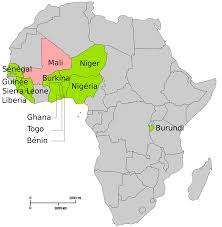 Map Of Africa Quiz by African Led International Support Mission To Mali Wikipedia