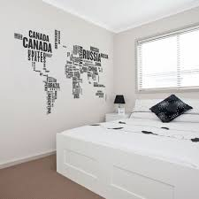 world countries wall decal