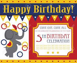 Birthday Invitation Card Kid Birthday Invitation Card Design Vector Illustration Royalty