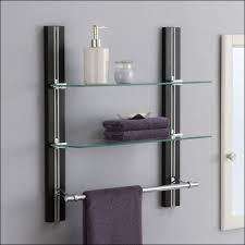 Wall Mounted Bathroom Shelves Shelf Bathroom Wallhelf And Towel Bar With Rack Cabinet Ideas