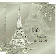 eiffel tower wedding invitations eiffel tower swirls invitations announcements zazzle