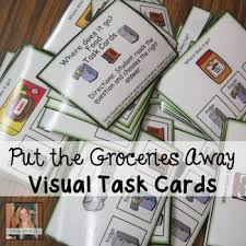 where does the food go skill task cards special ed autism