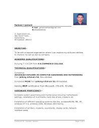 Sample Resume Format For Be Freshers by Resume Format For Freshers Mechanical Engineers Free Download