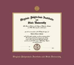 virginia tech diploma frame custom diploma frames certificate frames framing success va