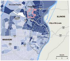 st map how st louis county s map explains ferguson s racial discord