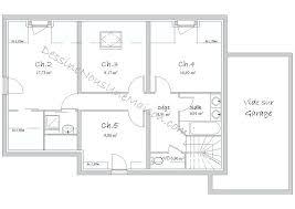 maison 5 chambres plan maison 5 chambres avec etage plan 5 plain pied m 4 interiors