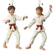 karate martial arts uniformed ornament