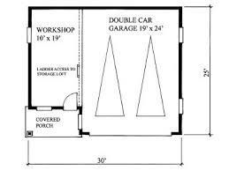 garage workshop plans 2 car garage workshop plan with loft