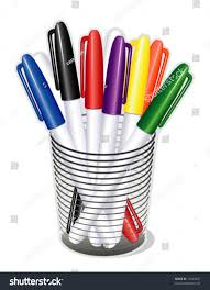 School Desk Organizers by Marker Pens Small Tip Desk Organizer Stock Vector 10943047
