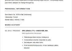 Free Printable Resume Samples by Stylish Idea Basic Resume Samples 3 Template 51 Free Samples