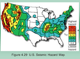 earthquake hazard map chapter 4 earthquakes map is from the united states geological