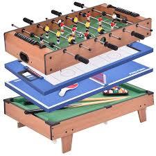 4 in 1 pool table costway 4 in 1 multi game air hockey tennis football pool table