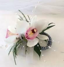 prom wrist corsage mini cymbidium wrist corsage weddings and prom in la porte in