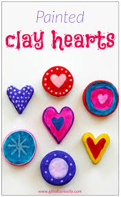 painted clay hearts valentine craft gift of curiosity