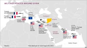 map us army bases us has myriad ways to strike syria in potential operation